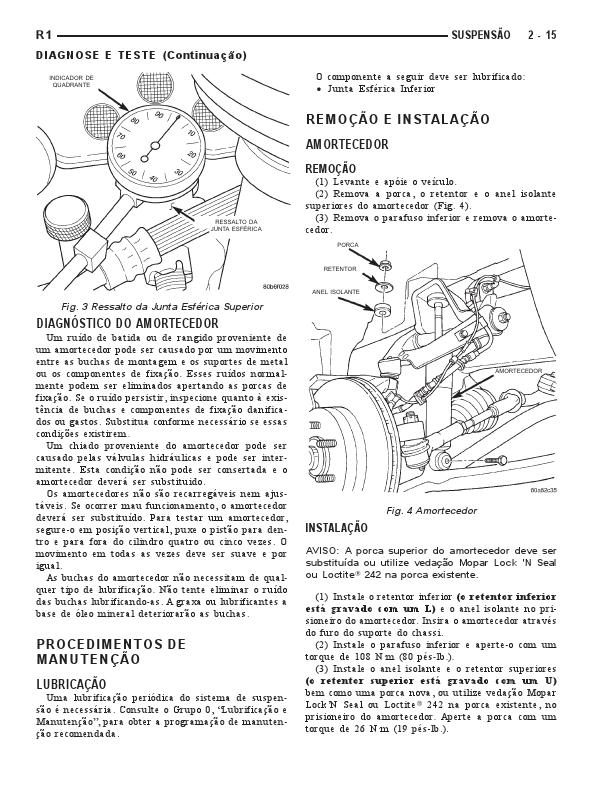 manuais do propriet u00c1rio  manual mec u00c2nico dodge dakota 1999
