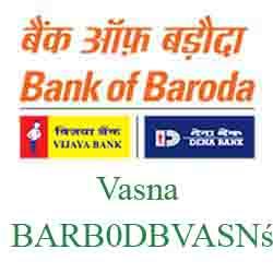 New IFSC Code Dena Bank of Baroda Vasna Ahmedabad