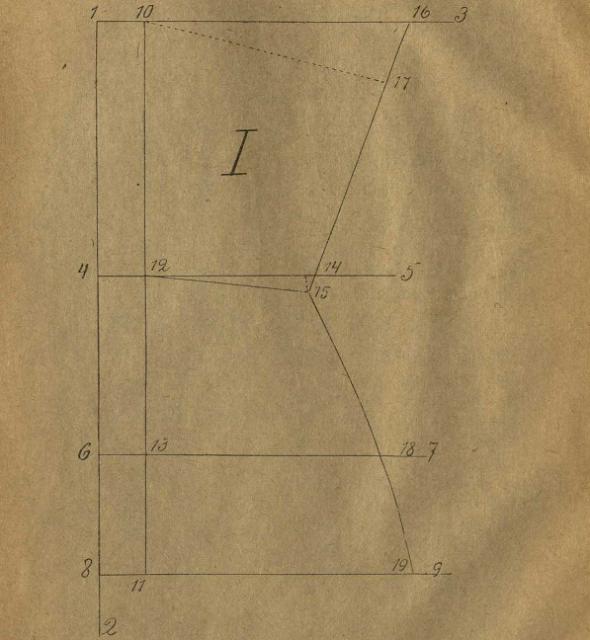чертеж спинки корсета