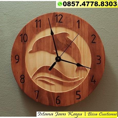 Jam Dinding Kayu Classic 1ea9a64c9f