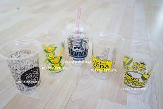 plastik cup printing es teler, es cendol , es kopi , coffee shop , restaurant , franchise