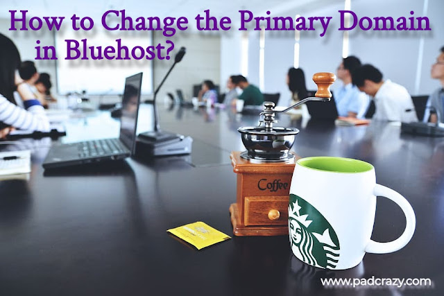 Change the Primary Domain in Bluehost