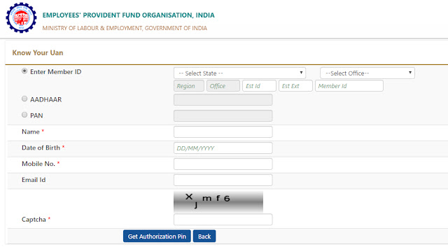 Generate UAN Epfo Number
