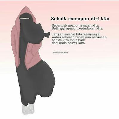 Gambar kata muslimah bercadar