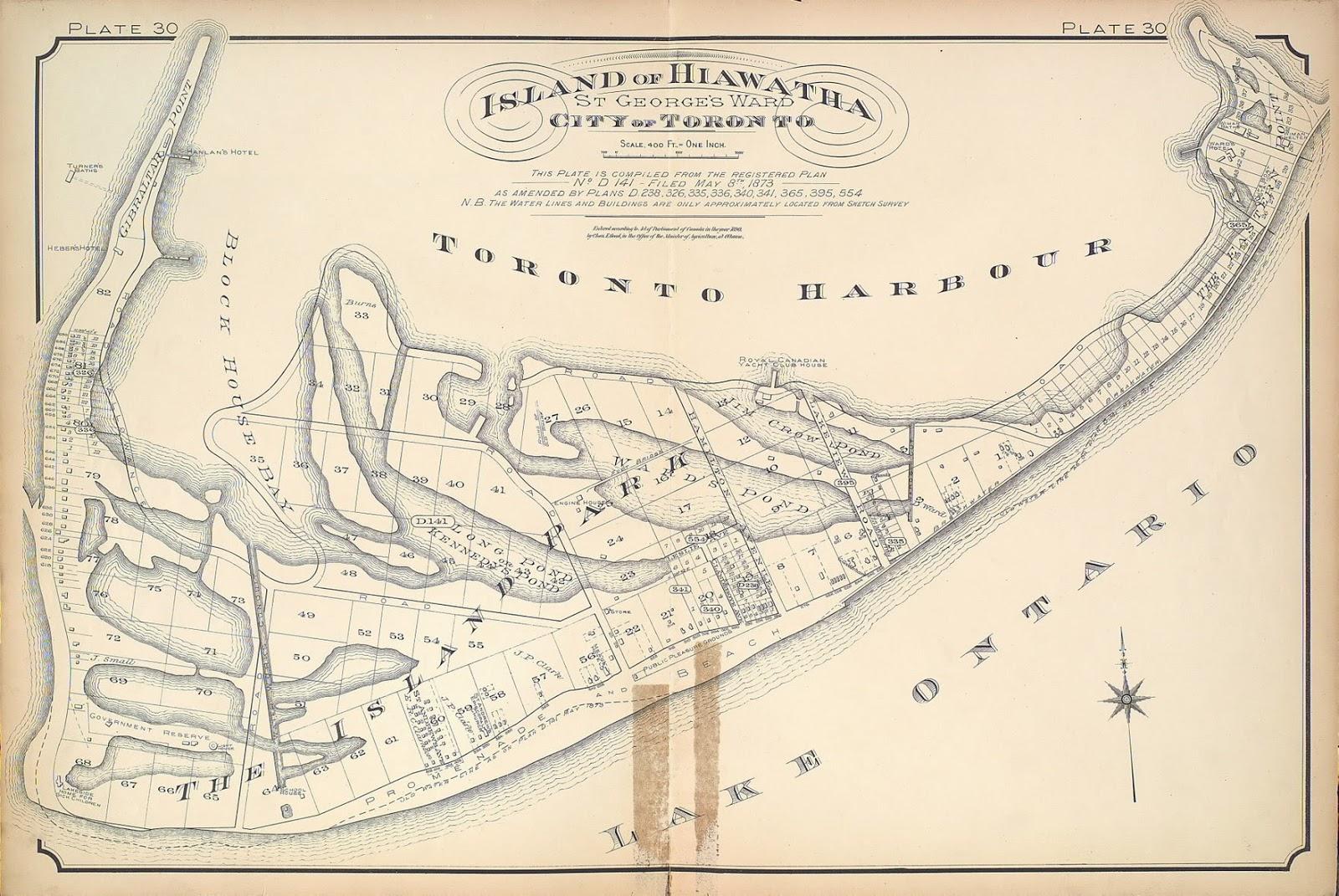 Toronto Island, Plate 30, 1893 Goad Atlas of Toronto