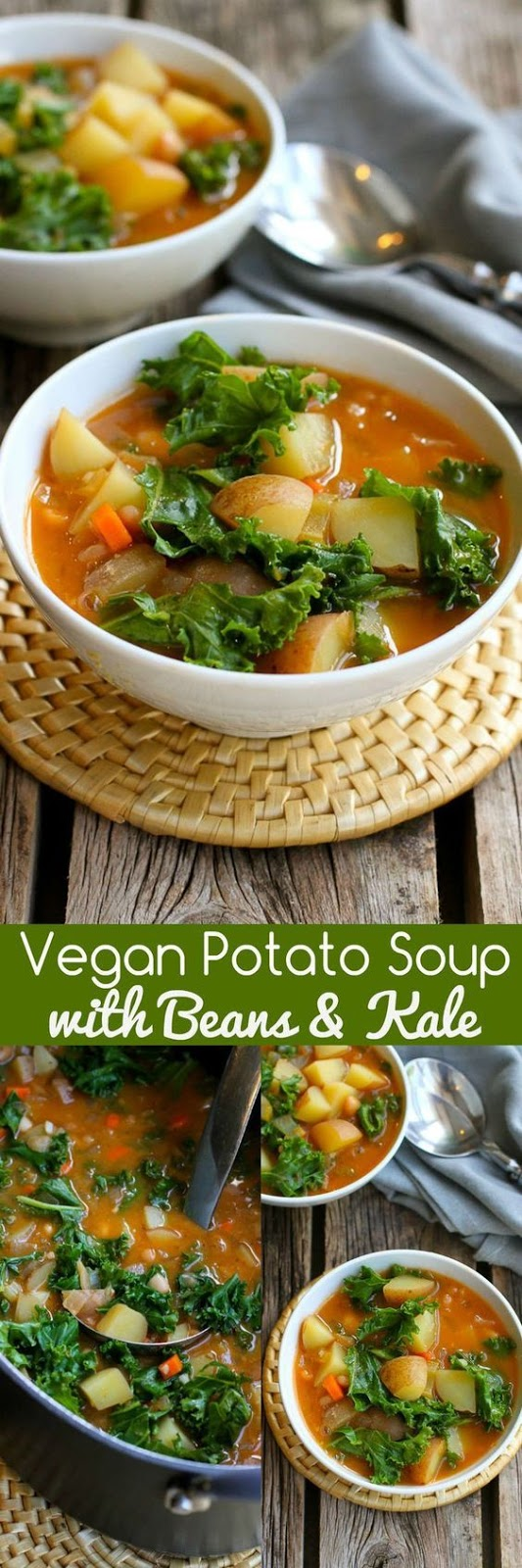 Vegan Potato Soup With Beans & Kale