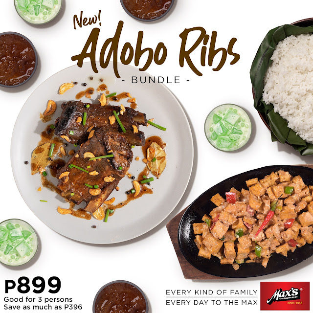 Max's Restaurant,  Adobo Ribs Bundle, group meal
