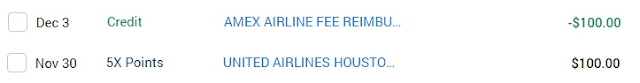 Amex Airline Fee Credit for United Airlines