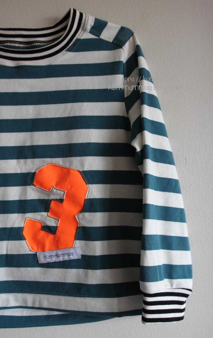 ottobre 6/2015 ob paita raglan nosh raitakangas applikoitu numero kolme