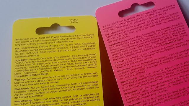 eos active, lip balm, lipbalm, review, testbericht, test, bericht, spf, lsf, sonnenschutz, lichtschutzfaktor, 30, 15, fresh, grapfruit, lemonade, zitrone, frische, pflege,
