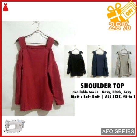 AFO156 Model Fashion Shoulder Top Modis Murah BMGShop