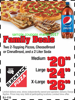 free Black Jack Pizza coupons for march 2017