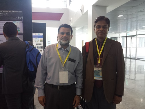 With Dr Tayab at MIB-2015, Brunei