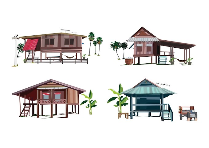 Khmer House free vector