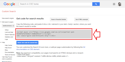 Cara Membuat dan Memasang Google Custom Search Engine di Blogger