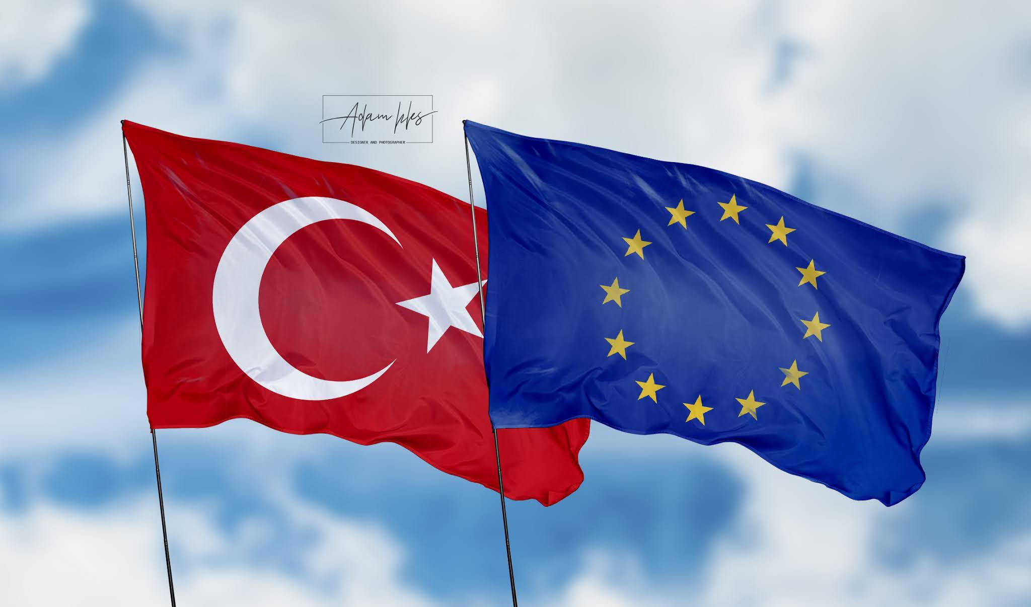تحميل اجمل خلفية تركيا والاتحاد الاوروبي علم الاتحاد الاوروبي مع تركيا