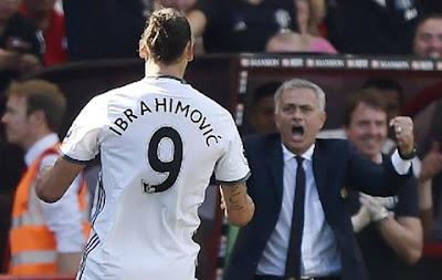 Primer partido Ibrahimovic Manchester