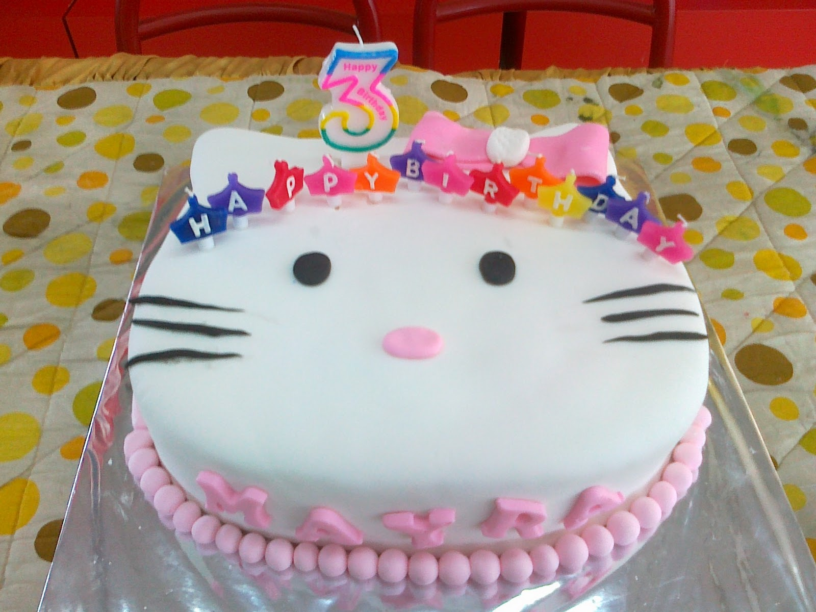 Lihat Rumah Hello Kitty Quotrien Kue Quot Hello Kitty Cake For Mayra