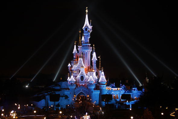 A picture of Disneyland Paris at Christmas