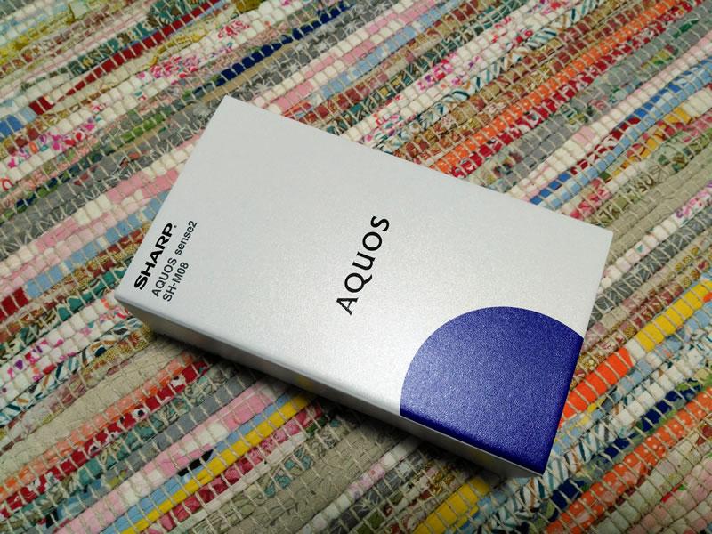 【SH-M08】SIMフリーモデル AQUOS sense2 を購入