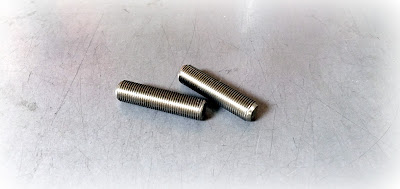 Custom Ultra Fine Threaded Studs In 18-8 Stainless Steel - 5/16-32 X 1-1/4 Chamfered On Both Sides