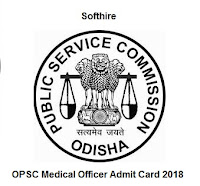 OPSC Medical Officer Admit Card