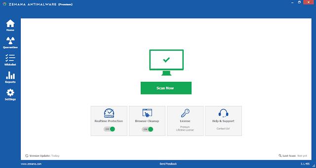Screenshot Zemana AntiMalware Premium 3.1.495 Full Version