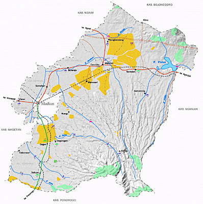 Gambar Peta Infrastruktur Kabupaten Madiun