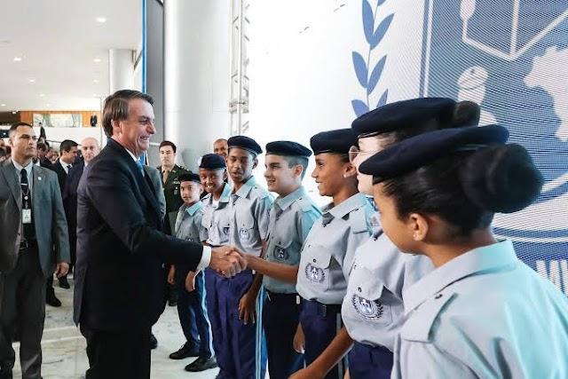 Implantação de mais 54 novas Escolas Cívico-Militares em 2021
