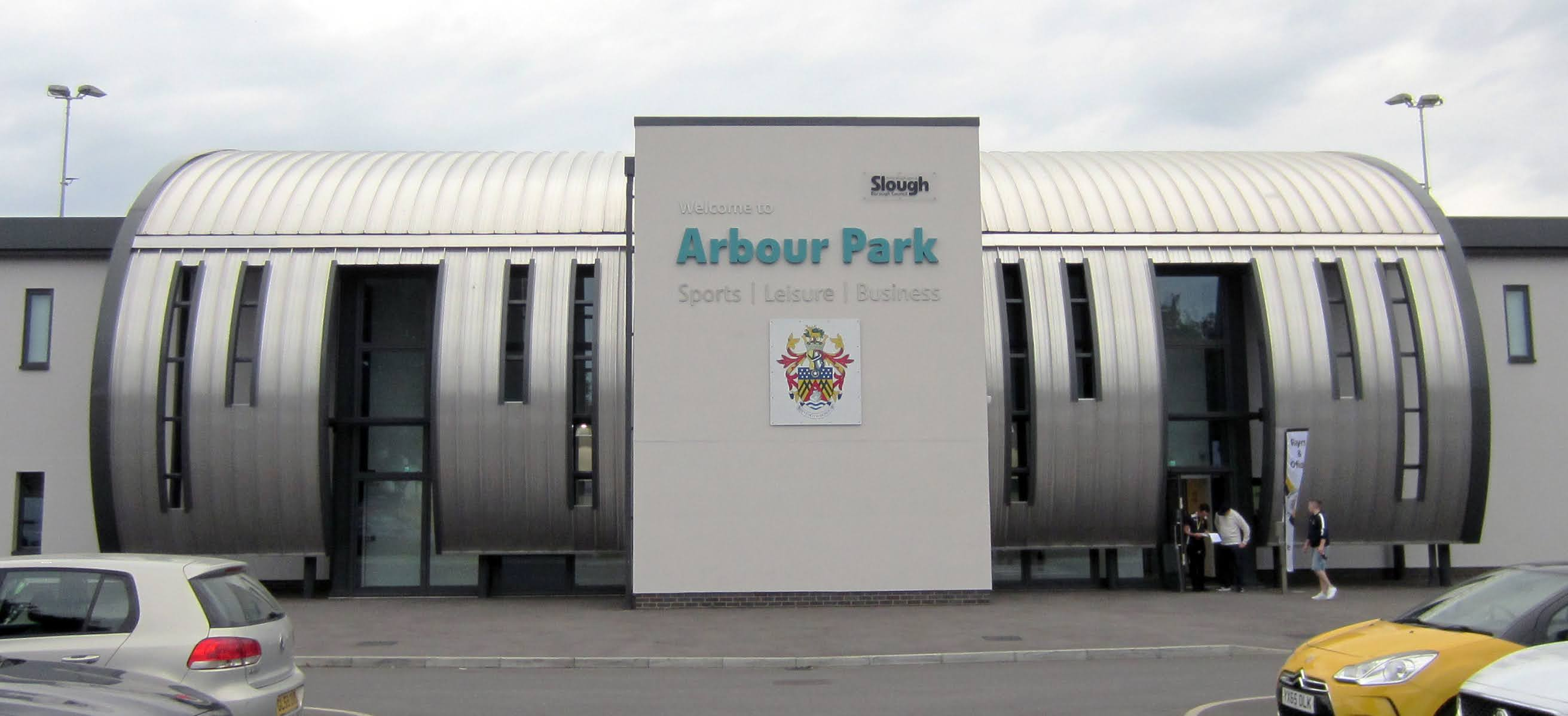 Outside Arbour Park, Slough