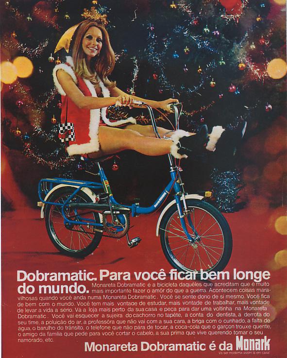 Propaganda antiga da Monark promovendo sua bicicleta dobrável em 1967