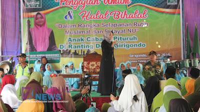 Muslimat dan Fatayat NU Anak Cabang Pituruh Undang Uztadzah Kondang Mumpuni Handayayekti dari Cilacap