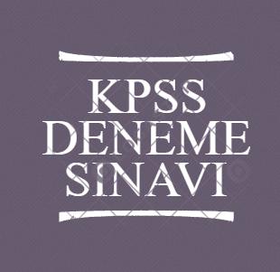 KPSS Deneme Testi - 4 (Genel Yetenek-Genel Kültür)