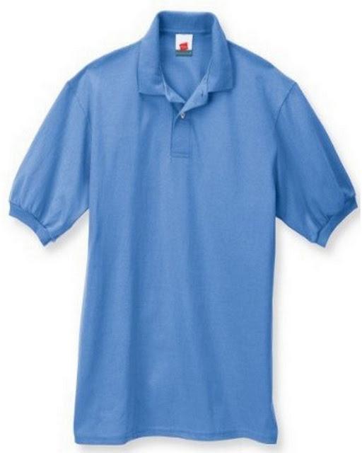 Hanes 054X Mens Comfortblend Jersey Polo -Carolina Blue – M