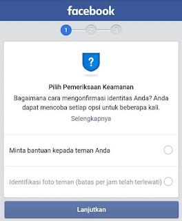 Cara mengatasi Pemeriksaan Keamanan Facebook