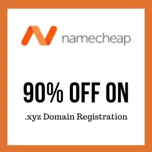 Namecheap 90% Off On .xyz Domain Registration
