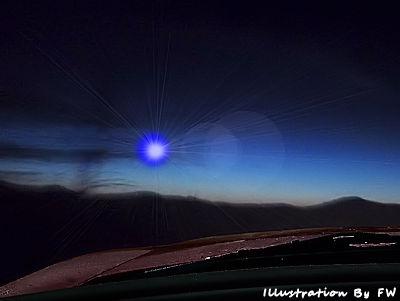 Bright, Blue, UFO Reported Over Farmingville