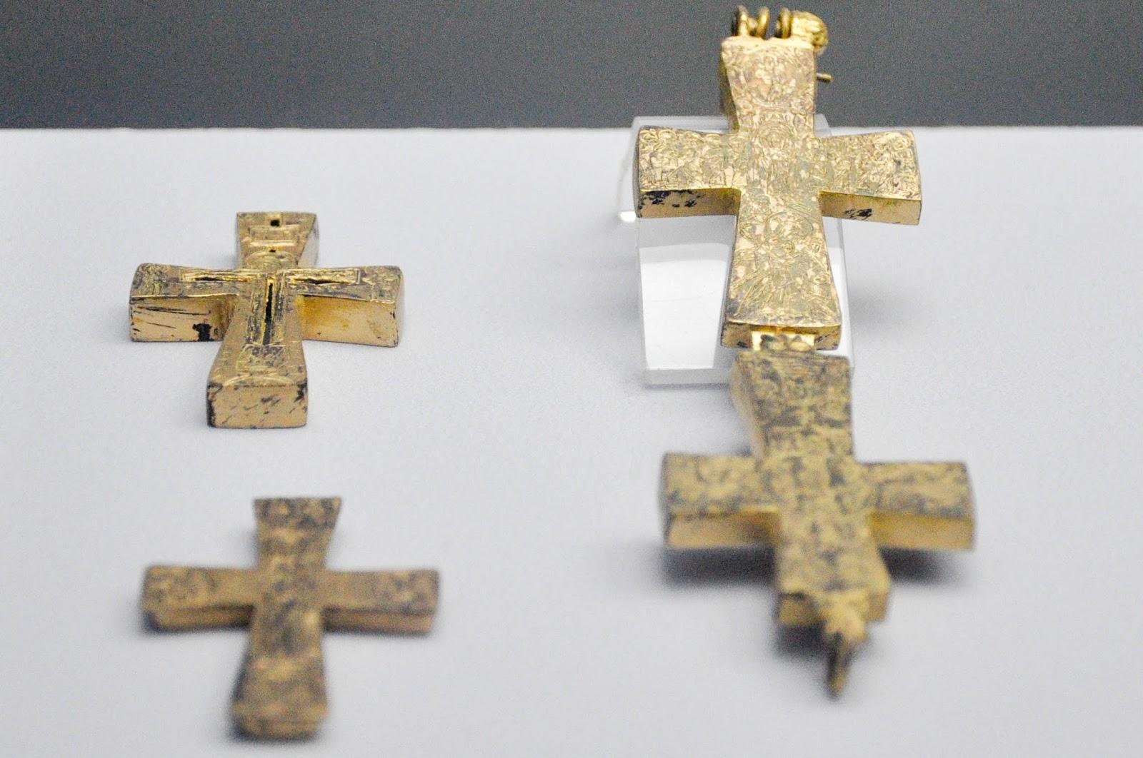 Old Bulgarian crosses, The Museum, Pliska, Bulgaria