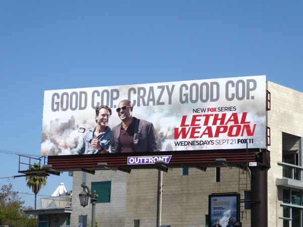 Lethal Weapon series launch billboard