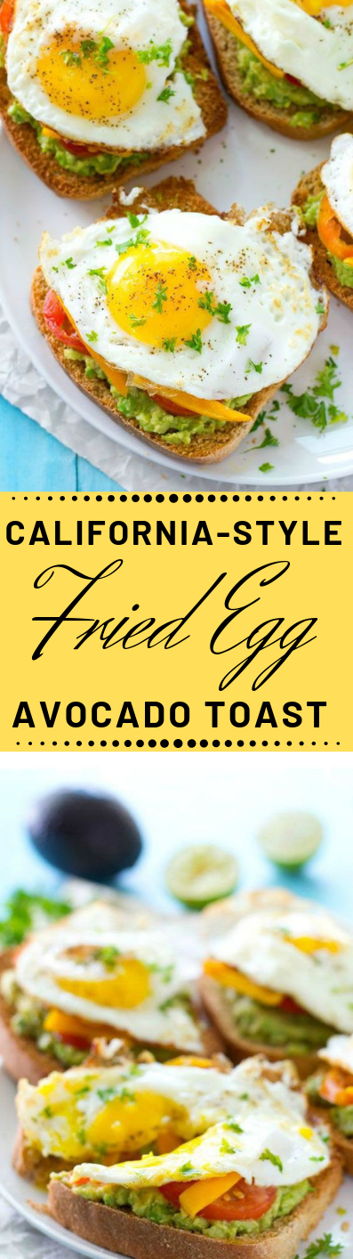 CALIFORNIA-STYLE FRIED EGG AVOCADO TOAST #vegan #califloweer #avocado #vegetarian #salad