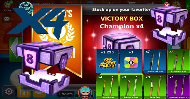 8 ball pool Victory Box Champion X4