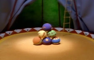 Six circus balls appears in a song. Sesame Street The Great Numbers Game