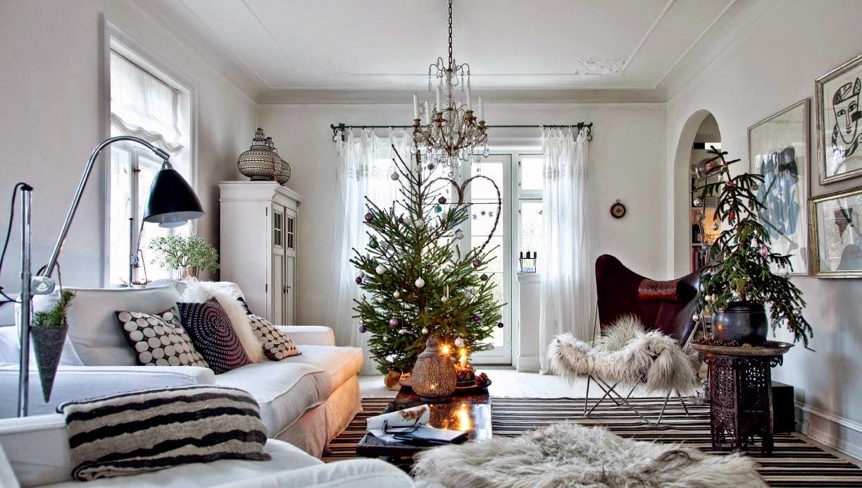 Decoracao De Sala Natal ~  ideias e inspirações para sala de estar com decoração de Natal
