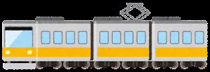 電車のイラスト(黄色)