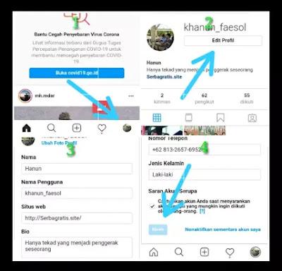 cara mengganti nama aplikasi instagram