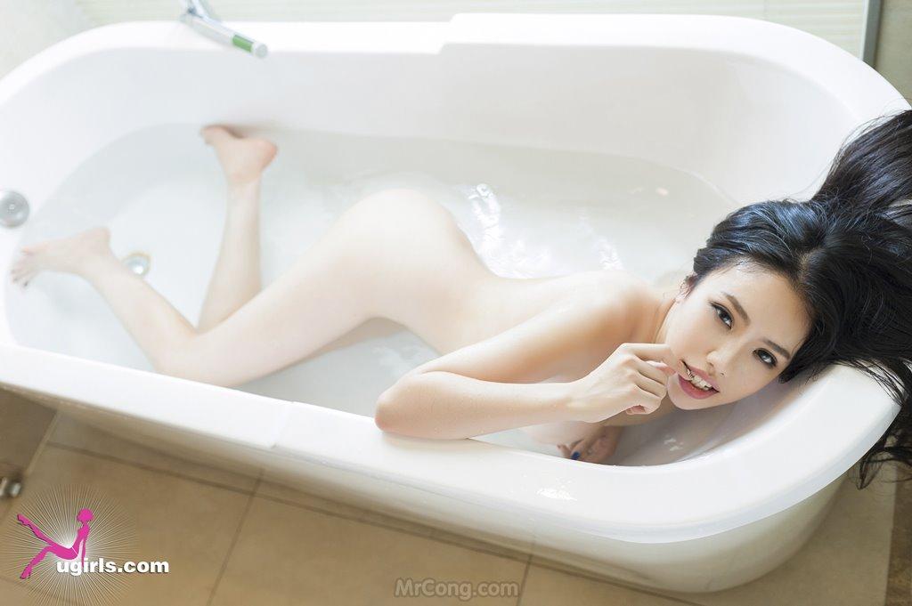 Image MrCong.com-UGIRLS-035-Ni-Xiao-Yao-035 in post Mê mẩn ngắm vòng một nở nang của người đẹp Ni Xiao Yao (妮小妖) trong bộ ảnh UGIRLS 035