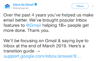 inbox by gmail is closing on march 2019 karantech