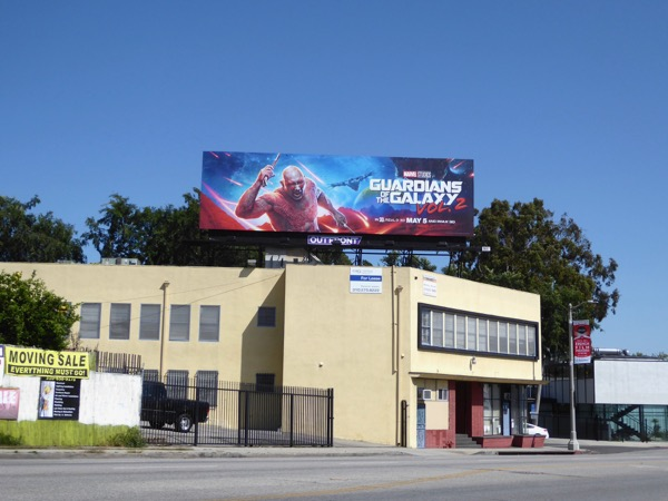 Drax Guardians Galaxy 2 billboard