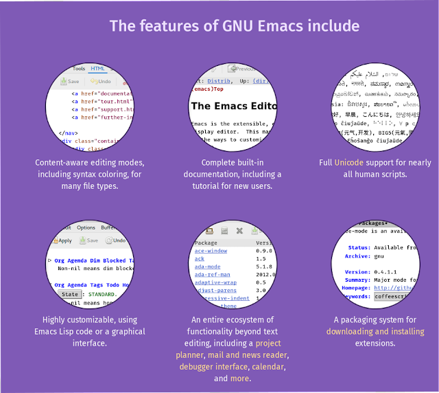 Emacs features