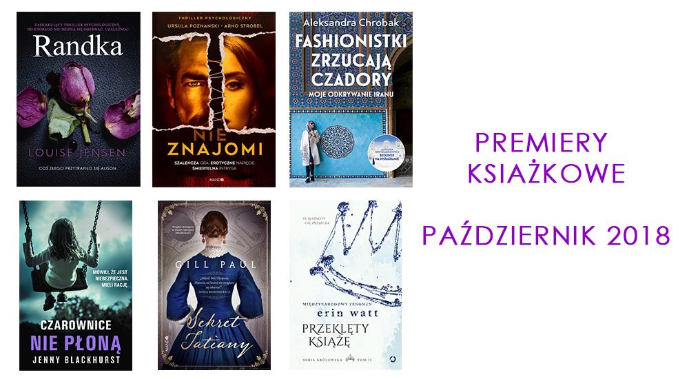 Zapowiedzi książkowe - premiery październik 2018